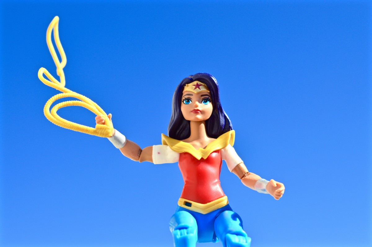 Wonder Woman needs her shield.